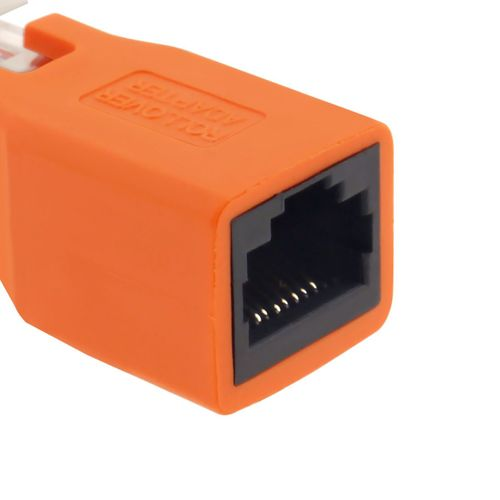 Orange Crossover Connecter Adapter Cable RJ45 M to F Adapter