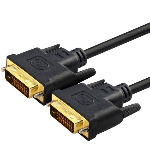 DVI-D Dual Link 24+1 Pin Gold Male Digital Video Cable for Monitor PC TV 30ft