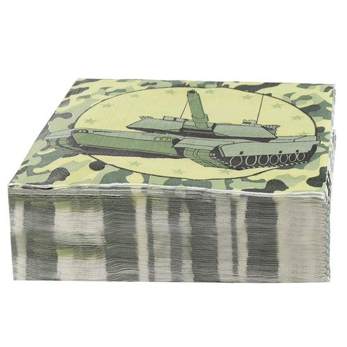 Helicopter Camo Party Supply Kit Plates and Beverage Napkins