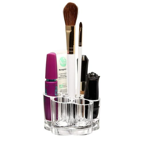 85e2598fc819 Acrylic Clear Lipstick Organizer, 12 Slot Makeup Brush Holder ...