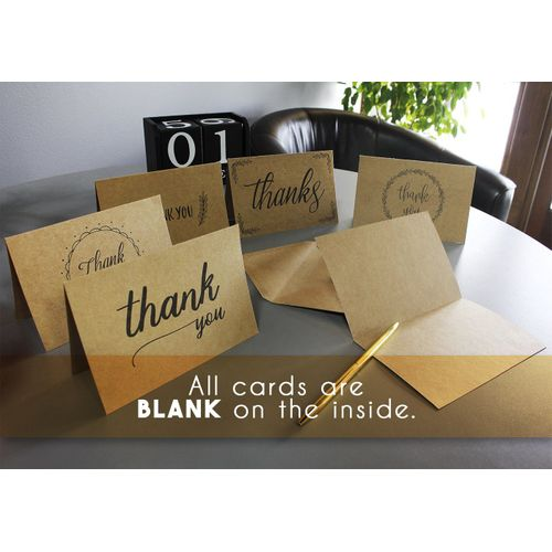 Blank Thank You Greeting Cards Set 36-Count 4 x 6 Inches