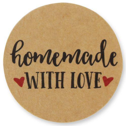 "1000PCS Kraft Love Heart Stickers Roll Lot Wedding Scrapbooking Crafts 1.5/"""