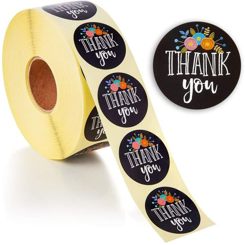THANK YOU Stickers Thank You for Your Business 1 inch Circle Labels 500  Pack