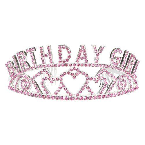 "Rhinestone Tiara for 21st Birthday Celebrate Princess Crown 5 x 2.2 x 5.5/"""