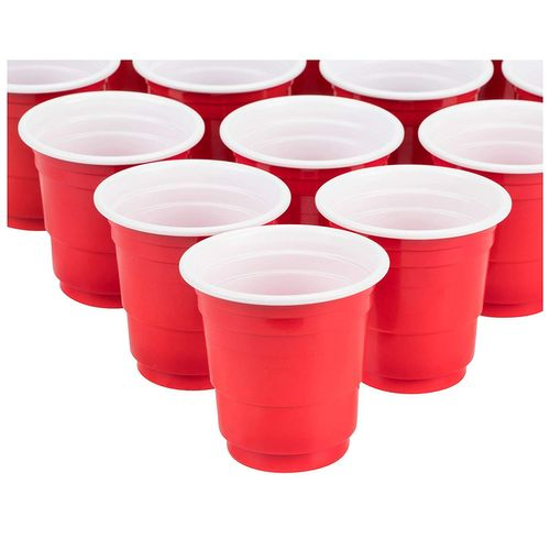Mini Beer Pong Set 2oz Red Solo Cups 12 Shot Glasses 2 Balls New