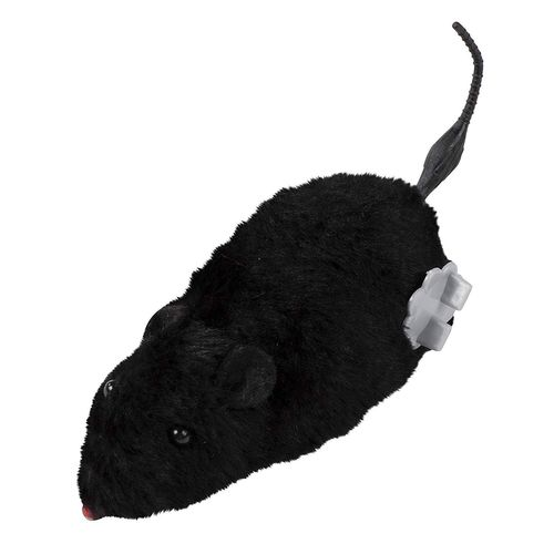 6 NEW WIND UP FUNNY MICE RUNNING FURRY MOUSE CAT TOY GAG GIFT PRANK 4 COLORS
