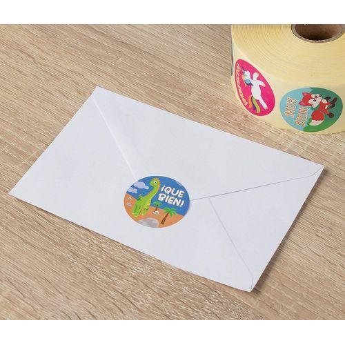 1000 Pieces Student Incentives in 8 Designs,2 Rolls,1 Inch in Diameter CiciBear Teacher Reward Motivational Stickers for Kids