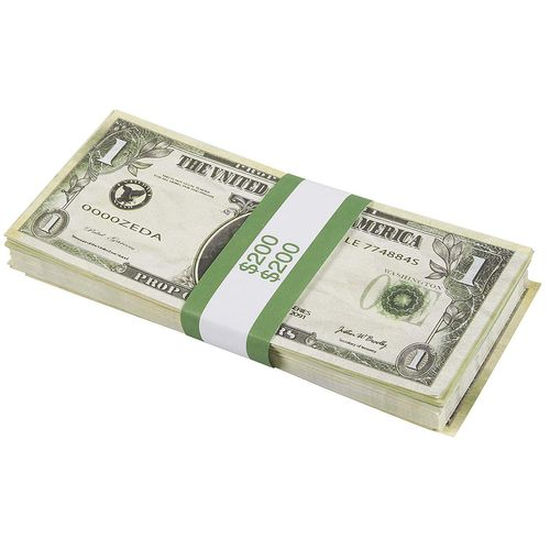 300-Count Bill Wrappers Money Bands Currency Straps Self-Sealing 1000 2000 5000