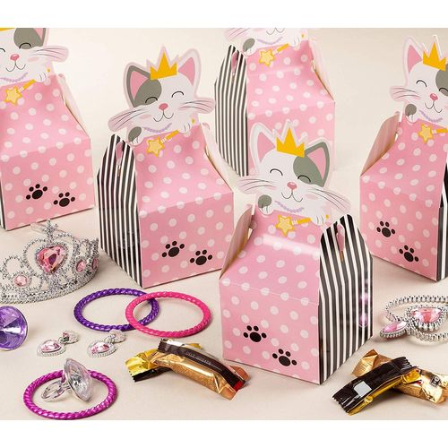 48 pcs Children/'s Birthday Party Paper Food Lunch Loot Gift Favor Gable Boxes